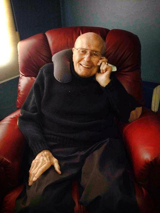 Photo Dingell at home:  Photo courtesy of John Dingell U.S. Rep. John Dingell (D-Dearborn) rests comfortably at home following his release from Henry Ford Hospital in Detroit today. Dingell underwent a minimally invasive procedure yesterday to correct a recently developed atrial fibrillation, or heart rhythm disorder.