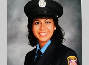 Photo courtesy of Henry Ford College. Henry Ford College alumna Mona Markabani is the first Arab American, the second female and the youngest person to join the Lincoln Park Fire Department.