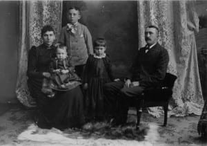 Photo courtesy of the Lincoln Park Historical Museum. Family legacies in Lincoln Park pre-date the city's 1925 incorporation, including Joseph and Mary Eberts in the late 1800s with children Wilfred, Edna and Joseph. Lincoln Park will celebrate its 90th anniversary as a city this weekend.