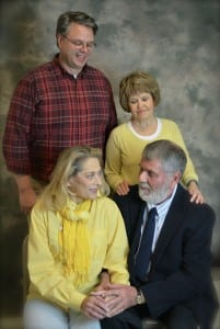 "Photo by Cynthia Frabutt. The West Side Theatre Project presents ""The Last Romance"" with Terry Crandall (left) of Dearborn as young Ralph Bellini, Rae McIntosh of Beverly Hills as Carol, Janet Vogel of Ann Arbor as Rose, and Richard Bulleri of Dearborn as present day Ralph Bellini. The show runs 8 p.m. Nov. 5 to 7, 13 and 14, and 3 p.m. Nov. 15 at Dearborn High School."