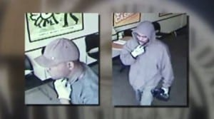 Photo courtesy of the Melvindale Police Department. These two men are being sought in connection to a robbery at Check N Go in Melvindale Oct. 20, where an undisclosed amount of money was taken and a teller and two customers were held at gunpoint.