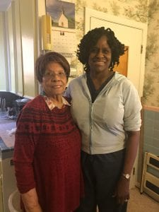 Photo courtesy of Women's Center Healthcare Physicians Claudia Spencer (left) poses in her kitchen with Dr. Barbara Hannah of Women's Center Healthcare Physicians.