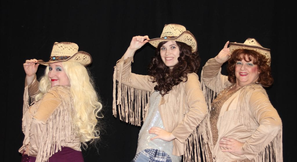 """Photo by Sue Suchyta Melanie Aue (left), of Taylor as Sue Ellen; Kimmy Elliott of Canton Township as Darlene; and Deborah Aue of Taylor as Angela star in Ted Swindley's """"Honky Tonk Angels"""" Jan. 26 and 27, and Feb. 2 to 4 at the Catherine A. Daly Theatre on the Avenue, 2656 Biddle, Wyandotte. For tickets or more information call 734-407-7020 or go downriveractorsguild.net."""