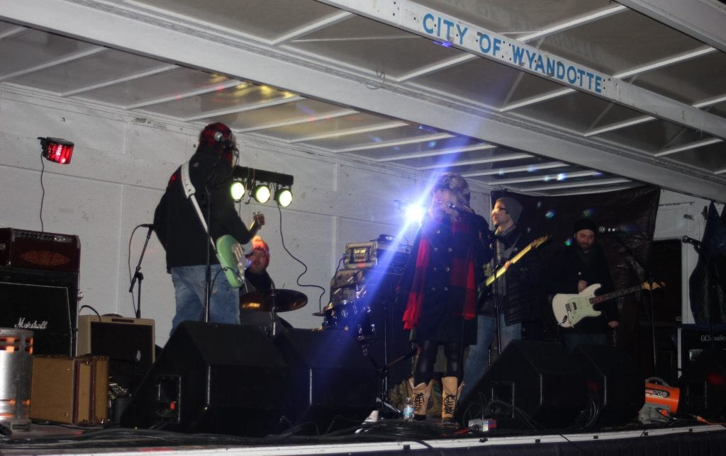 The Sarah Sherrard Band played at 8 p.m. until shortly before the 9 p.m. ball drop.