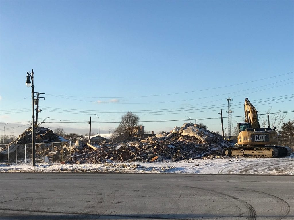 Photo by Zeinab Najm  The former Victory Inn Motel, 9430 Michigan Ave. at the Dearborn-Detroit border, has been demolished following a sex trafficking and drug ring investigation steaming from January 2017.