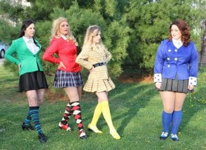 """Photo by Sue Suchyta The Downriver Actors Guild of Wyandotte presents """"Heathers, the Musical"""" May 11 to 20, with Spencer Genrich (left), of Wyandotte as Heather Duke, Lara Keathley of Trenton as Heather Chandler, Emily Noble of Wyandotte as Heather McNamara and Kayla Aue of Novi as Veronica Sawyer. For tickets or more information, call 734-407-7020 or go to downriveractorsguild.net."""