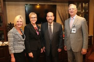 Photo courtesy of Beaumont Commons, Dearborn Welcoming Open House attendees in Connolly's Lounge of Beaumont Commons are, from left to right, Debra Gibson, Beaumont director of business development; Margaret Lightner, president of Beaumont Commons, Dearborn; Dearborn Mayor John B. O'Reilly, Jr., and Dr. Paul LaCasse; executive vice president ofpost‐acute care and diversified business operations at Beaumont Health.