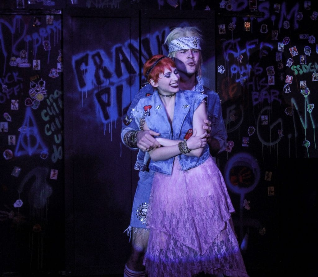 "Photo by Brandy Joe Plambeck Austin Sulkey (front) of Southgate plays Columbia, with R.J. Cach of Dearborn as Eddie in ""The Rocky Horror Picture Show"" through Aug. 6 at the Ringwald Theater, 22742 Woodward in Ferndale. For tickets or more information go to TheRingwald.com. Tickets may also be purchased at the box office 45 minutes before the show opens."