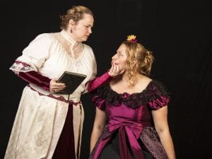 "Photo by Jan Cartwright The Open Book Theatre Company starts its season with Lauren Gunderson's ""Ada and the Engine,"" with Kez Settle (left) of Detroit as Annabella Byron, who educated her daughter, Ada, played by Sarah Hawkins of Hazel Park, in math and science to rid her of any poetical inclinations she may have inherited from her famous father, Lord Byron. The show runs Sept. 7 to Oct. 6 at the Open Book Theatre Company, 1621 West Road, Trenton. For tickets or more information, call 734-288-7753 or go to openbooktc.com."