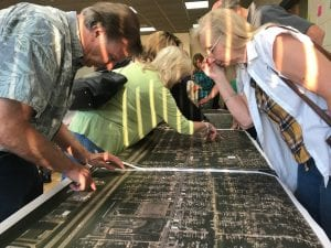 Dearborn Heights and Taylor residents mark strengths, weaknesses and opportunities on maps showing the four-mile stretch of the Van Born Corridor from Inkster to Pelham roads during a meeting on Sept. 19.