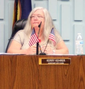 Photo by Sue Suchyta Appointed Lincoln Park City Clerk Kerry Kehrer will oversee the Nov. 6 election in which she is running for city clerk against former Mayor Frank Vaslo.