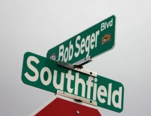Photo by Sue Suchyta Three new street signs were unveiled for Bob Seger Boulevard in Allen Park, which runs from Southfield Road to LaShish Restaurant, east of the new City Hall.