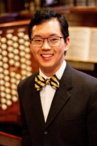 Photo courtesy of Cherry Hill Presbyterian Church Aaron Tan, organist and pianist