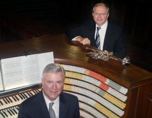 Photo courtesy of Cherry Hill Presbyterian Church Organist Randall Sheets (seated) and trumpeter Chuck Seipp will perform together in the Music at Cherry Hill concert series at 7 p.m. Nov. 9.