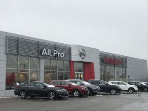 All Pro Nissan of Dearborn, 24501 Michigan Ave., sits vacant and closed following a lawsuit filed against the dealership group which includes former NFL linebackers Jessie Armstead and Antonio Pierce and automotive industry veteran Michael Saporito.