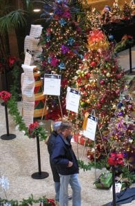 Photo courtesy of the city of Dearborn Patrons look at Christmas trees at a previous Festival of Trees. The 34th annual festival will be Nov. 18 to 25 at the Ford Community & Performing Arts Center, 15801 Michigan Ave.