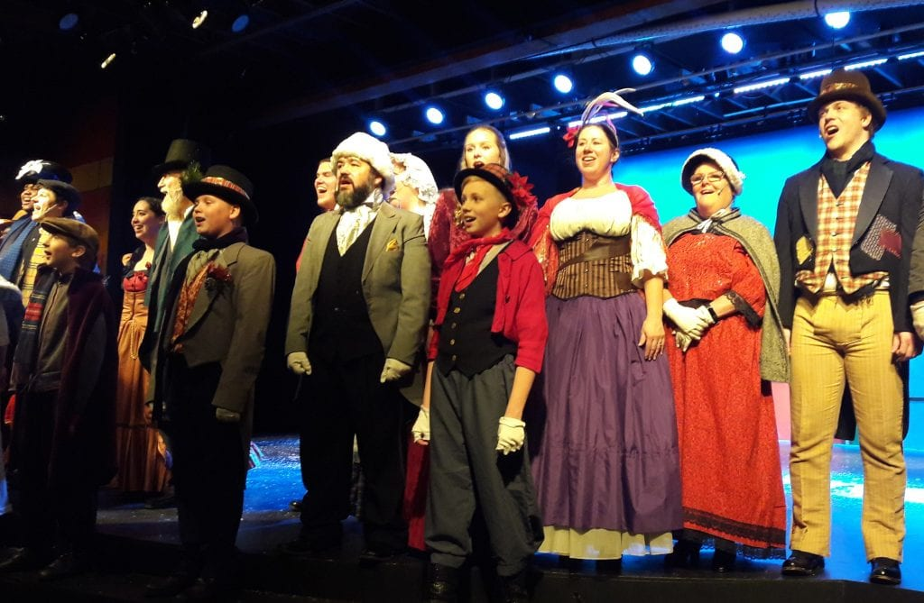 """Photo by Sue Suchyta """"A Christmas Carol – the Musical"""" runs weekends through Dec. 16 at that Downriver Actors Guild's Catherine A. Daly Theatre on the Avenue, 2656 Biddle, Wyandotte. For tickets and more information, call 734-407-7020 or go to downriveractorsguild.net."""