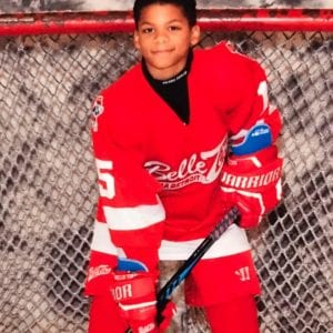 Photo courtesy of Matthew Cornett Facebook Dearborn hockey player Ty Cornett received an encouragement video from his favorite NHL player P.K. Subban of the Nashville Predators after the teenager faced racial abuse while playing on the ice.