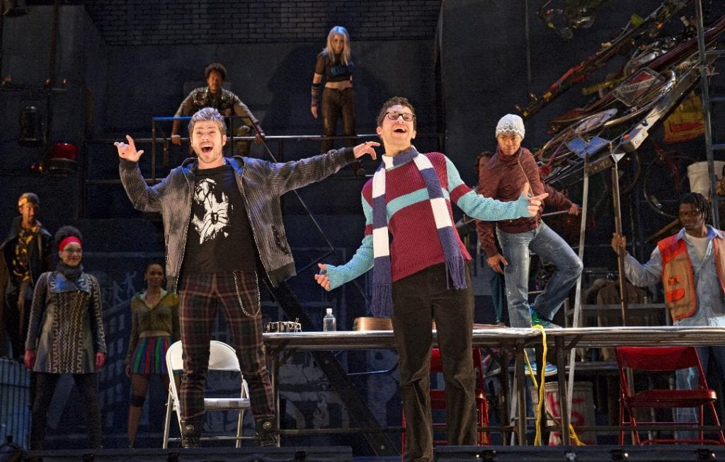 """Photo by Carol Rosegg The 20th anniversary tour of the Pulitzer Prize and Tony Award-winning musical """"Rent"""" plays Jan. 8 to 20 at the Fisher Theatre. For tickets or more information, call 800-982-2787 or go to ticketmaster.com or BroadwayInDetroit.com."""