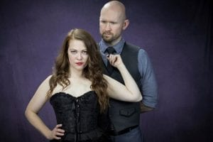 """Photo by Adriane Galea The Outvisible Theatre Company presents """"Venus in Fur,"""" with Dani Cochrane (left), as Vanda and Joshua Brown as Thomas. The show runs through March 3 at the playhouse,14709 Champaign, Allen Park. For tickets or more information, call 313-759-8350 or go to Outvisible.com."""