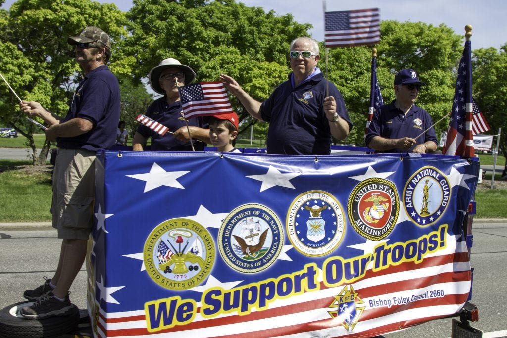 Photo courtesy of the city of Dearborn Veterans and dozens of military and community groups march in Dearborn's Memorial Day Parade, one of the largest in the country and the oldest continuous one in Michigan. The deadline to register to participate is April 19 for the May 27 parade.