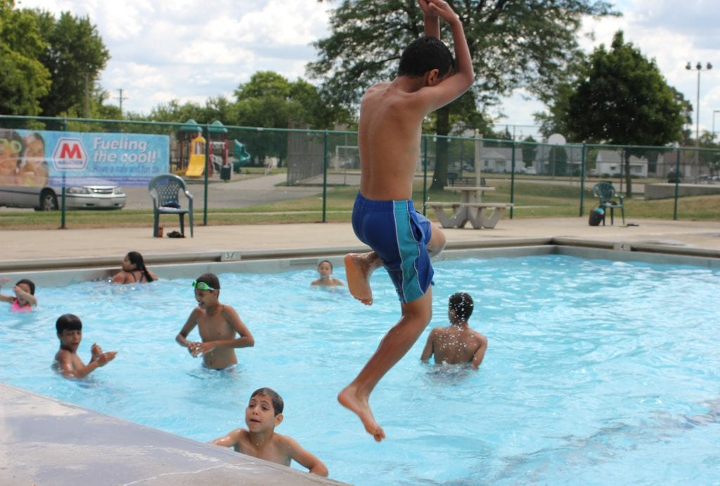 Sunday Times file photo by Sue Suchyta The Melvindale municipal pool, which opened in 2016 after a fundraising effort, might not open for the 2019 season.