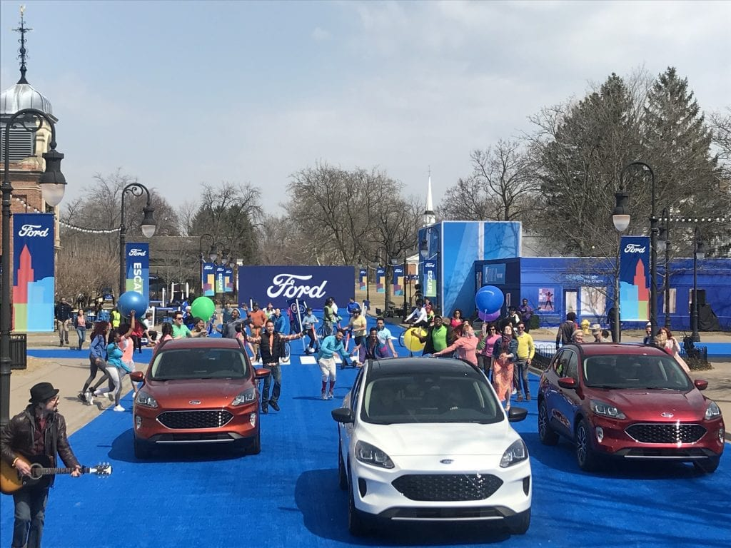 Photo by Zeinab Najm Ford Motor Co. celebrates the reveal of its 2020 Escape models during Escapeville March 28 at Greenfield Village.