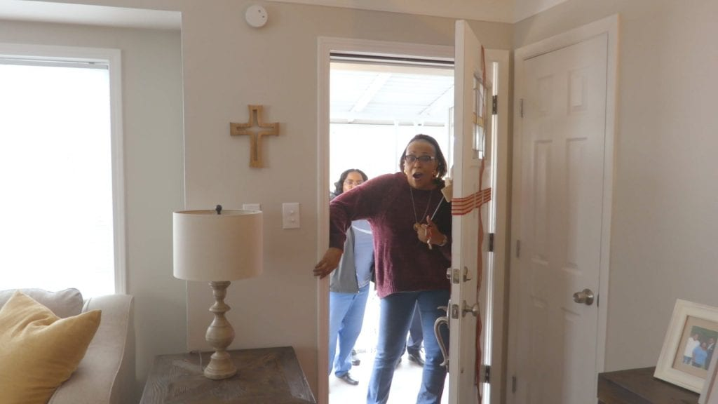 Photo courtesy of Daniel Rodarte Retired U.S. Army Sgt. Joanne Springer explores her new mortgage-free home in Dearborn that was gifted to her March 21 by the Veterans Association of Real Estate Professionals and Bank of America. Springer filed an application to the VAREP in hopes of becoming a homeowner leading to her receiving the fully furnished and newly renovated house, WJBK Channel 2 reported. During her time in the Army from 1975 to 1980, Springer served as an aircraft mechanic.