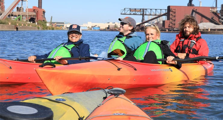 Dingell, Tlaib kayak Rouge River to highlight decades of cleanup
