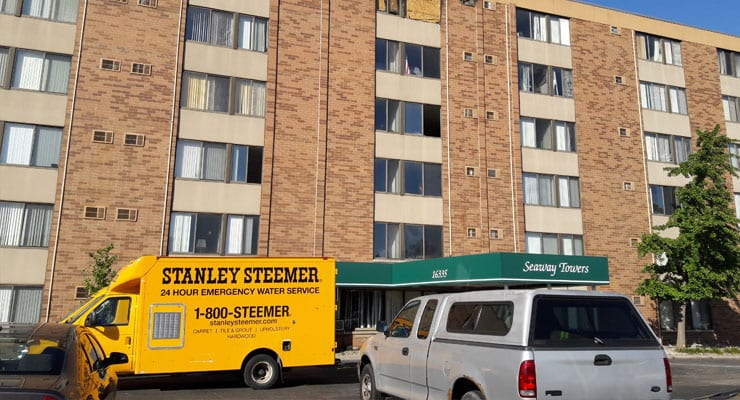 Fire in Southgate Seaway Senior Tower displaces residents; Fire chief said blaze started on fourth floor couch