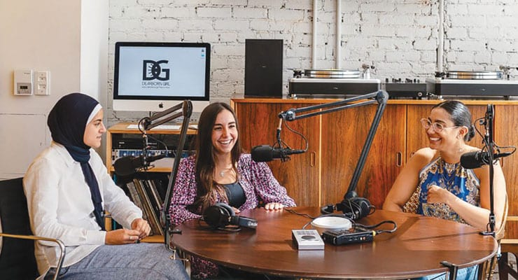 Dearborn girls seize the narrative in podcast form