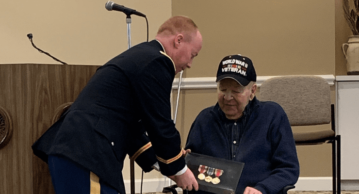 WWII veteran awarded service medals