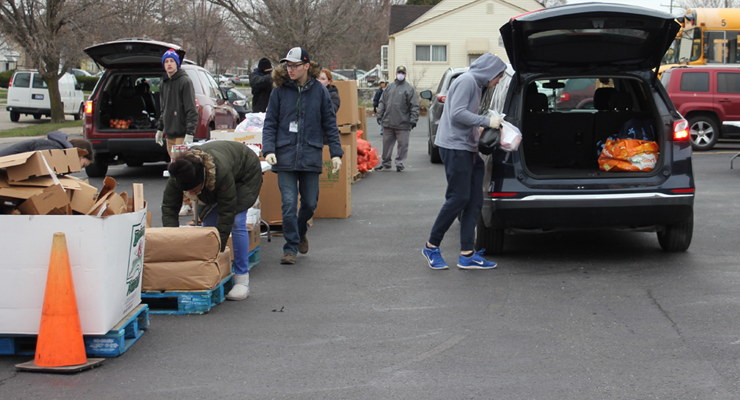 Gleaners helps area groups distribute food at drive-through sites