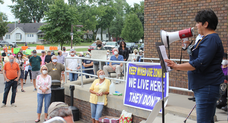Residents protest former McLouth site zoning change from mixed use to industrial