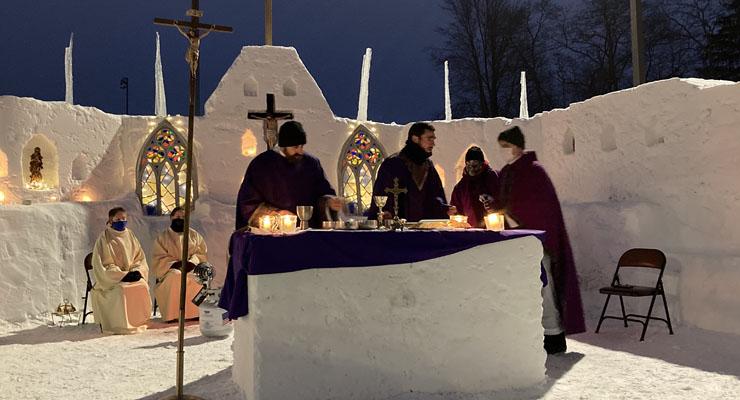Snow chapel gets warm reception